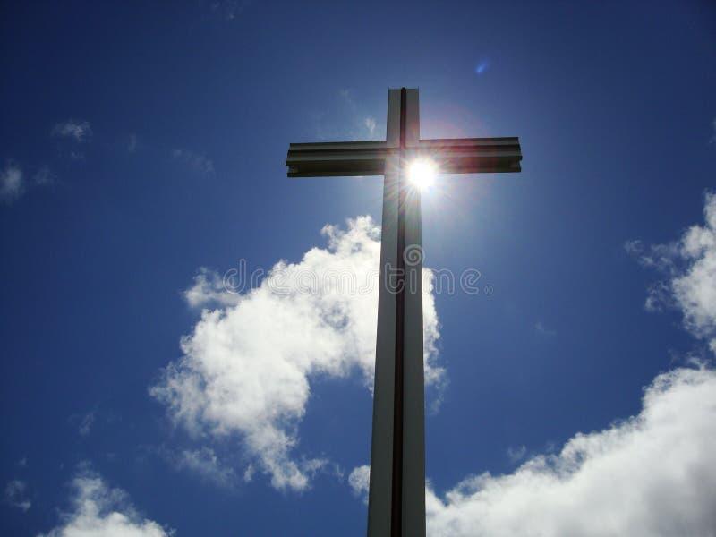 Cruz do papa imagem de stock