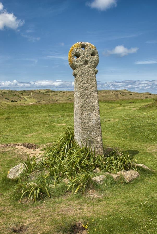 Cruz do ` s do St Piran, areias de Penhale imagens de stock royalty free