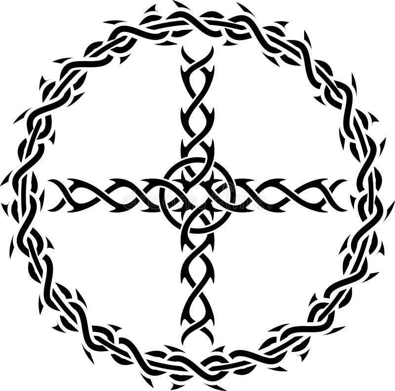 Cruz do tatuagem ilustração stock