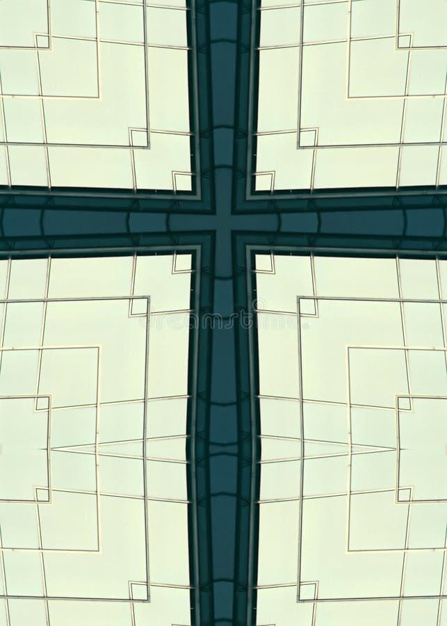 Cruz dos indicadores do arranha-céus imagem de stock