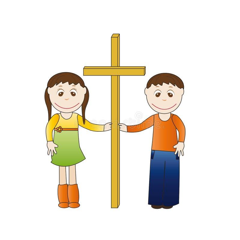 Cruz dos miúdos ilustração royalty free