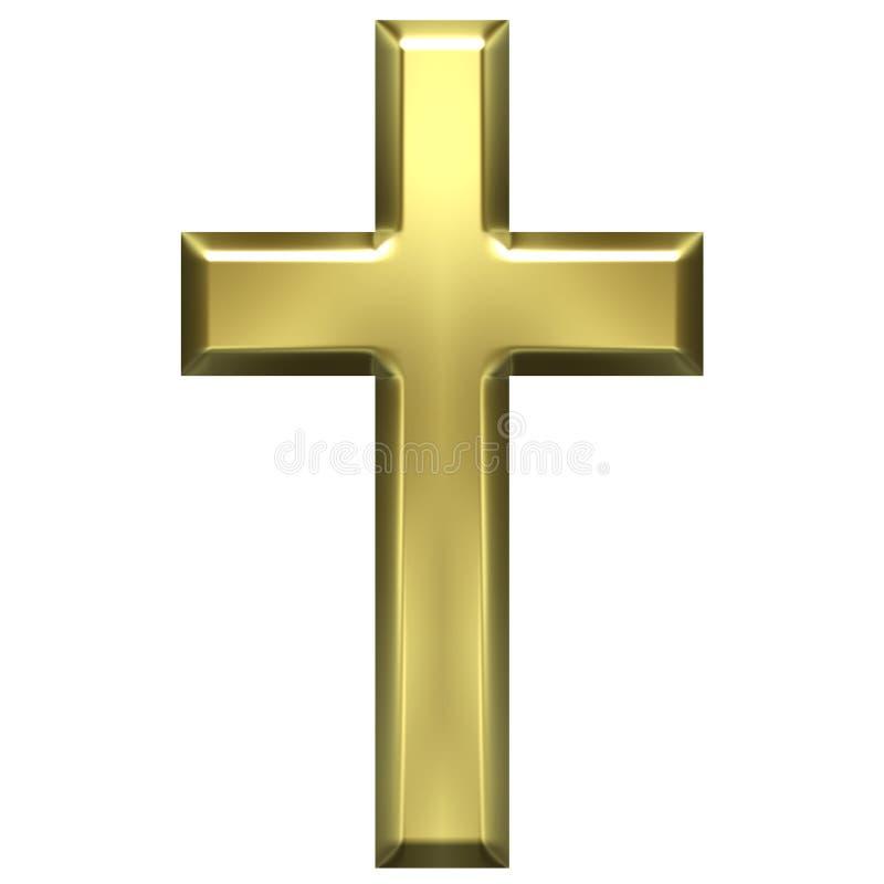 Cruz dourada ilustração royalty free