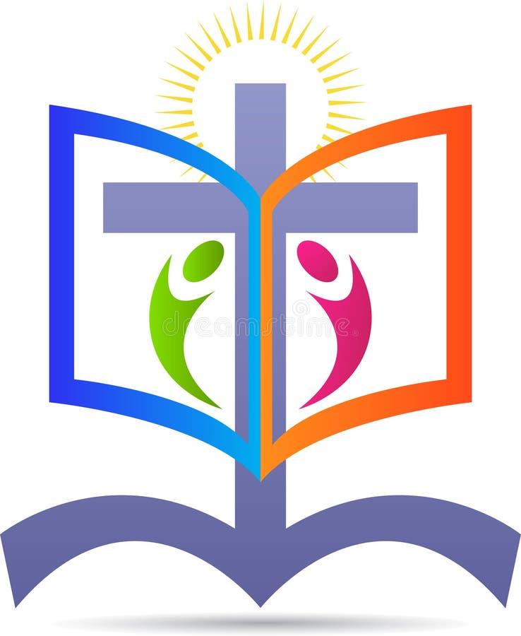 Cruz e Bíblia ilustração royalty free