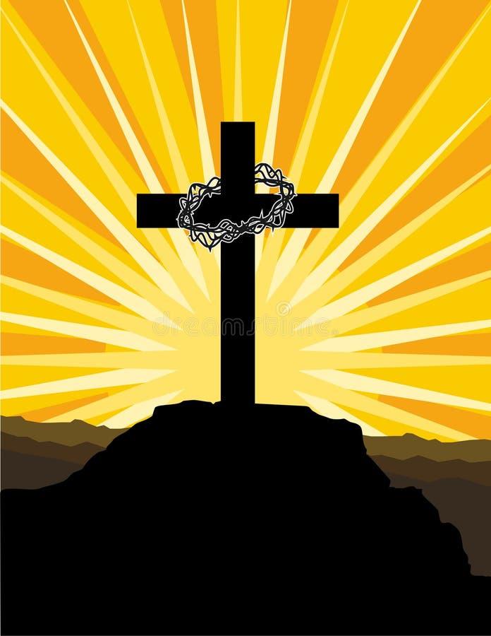 Cruz E Coroa De Espinhos Foto de Stock