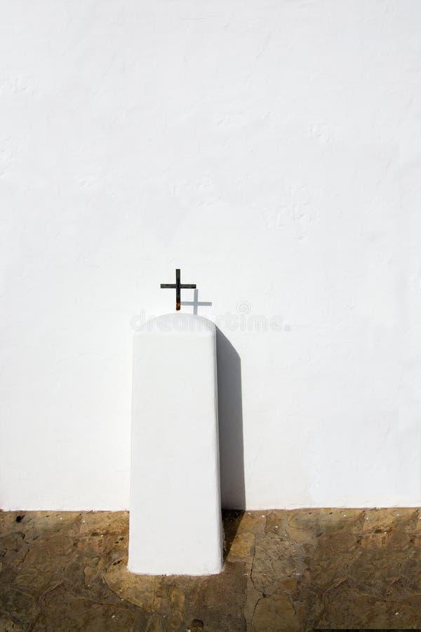 Download Cruz en blanco foto de archivo. Imagen de mediterráneo - 64212330