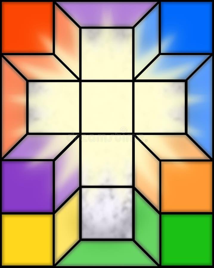 Cruz en vidrio manchado ilustración del vector