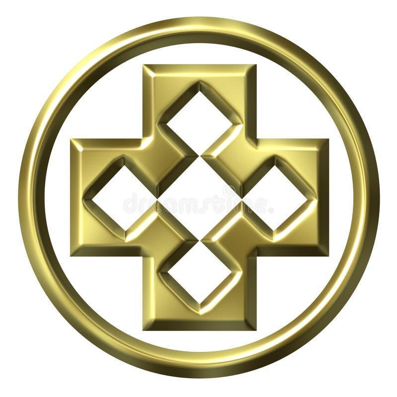 cruz enmarcada de oro 3D libre illustration