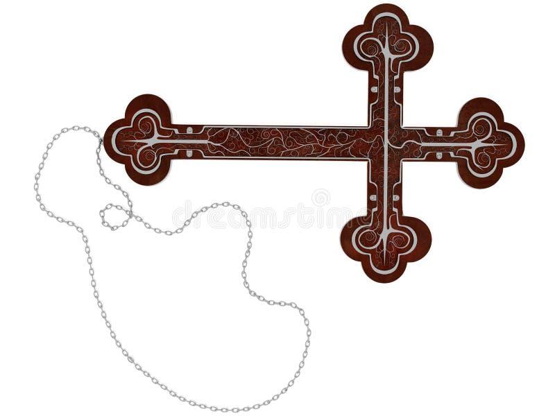 Cruz gótica ilustración del vector