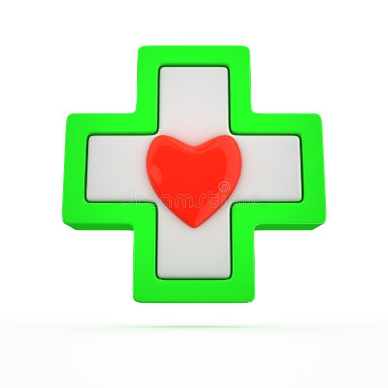 Cruz médica ilustração do vetor