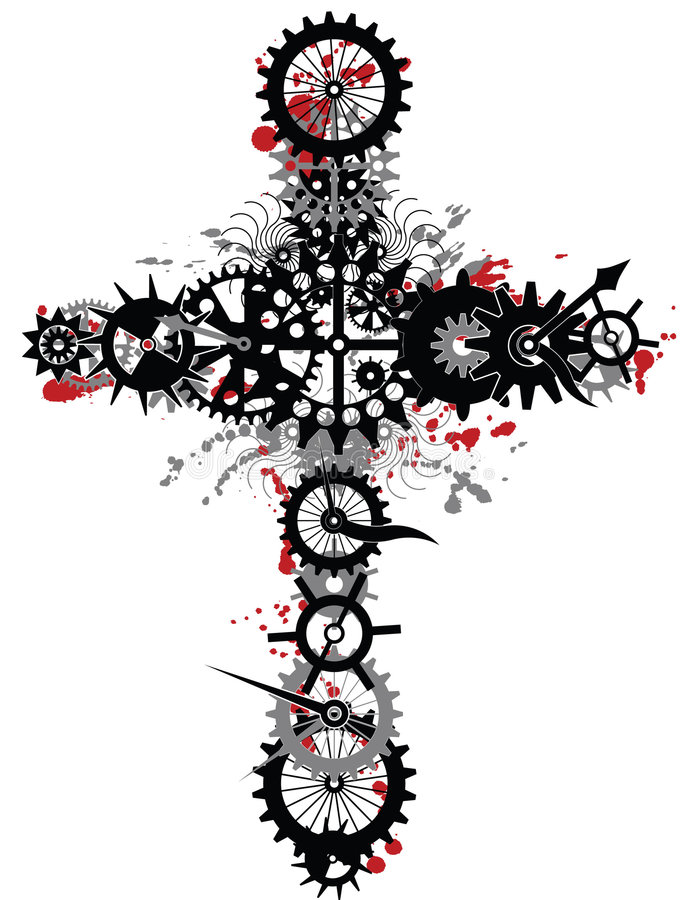Cruz mecânica ilustração do vetor