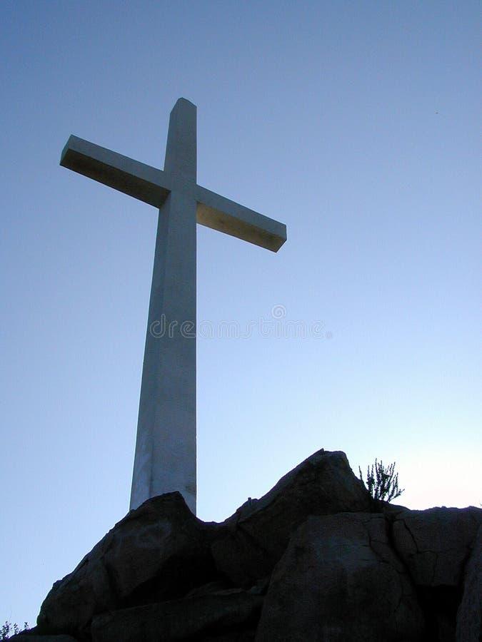 Download Cruz na cume foto de stock. Imagem de cruciform, espiritual - 58866