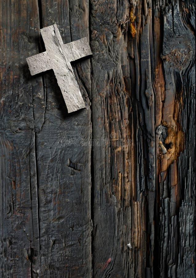 Cruz na madeira ilustração royalty free