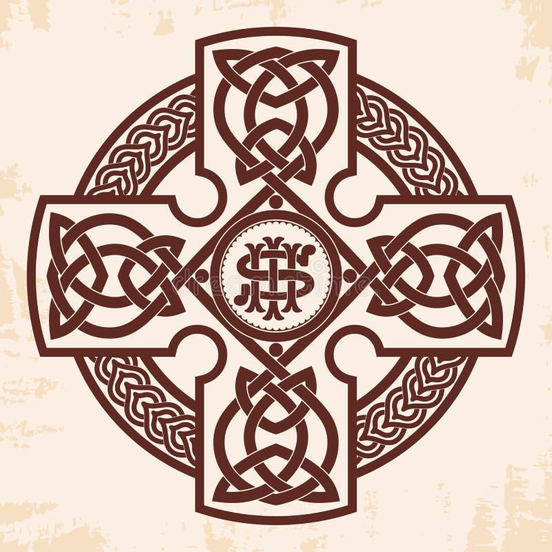 Cruz nacional celta ilustração royalty free