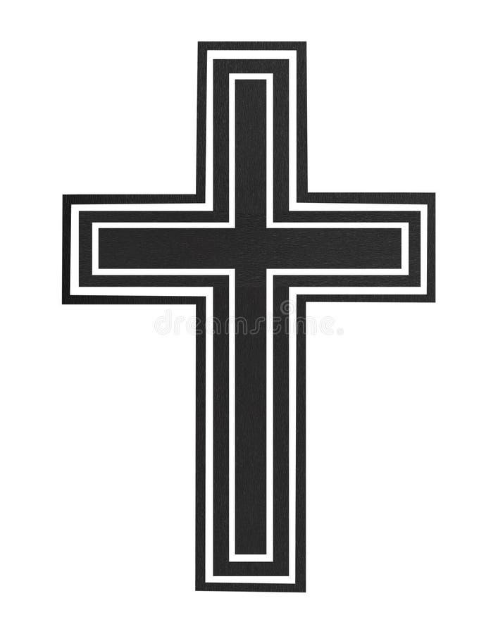 Cruz negra fotografía de archivo