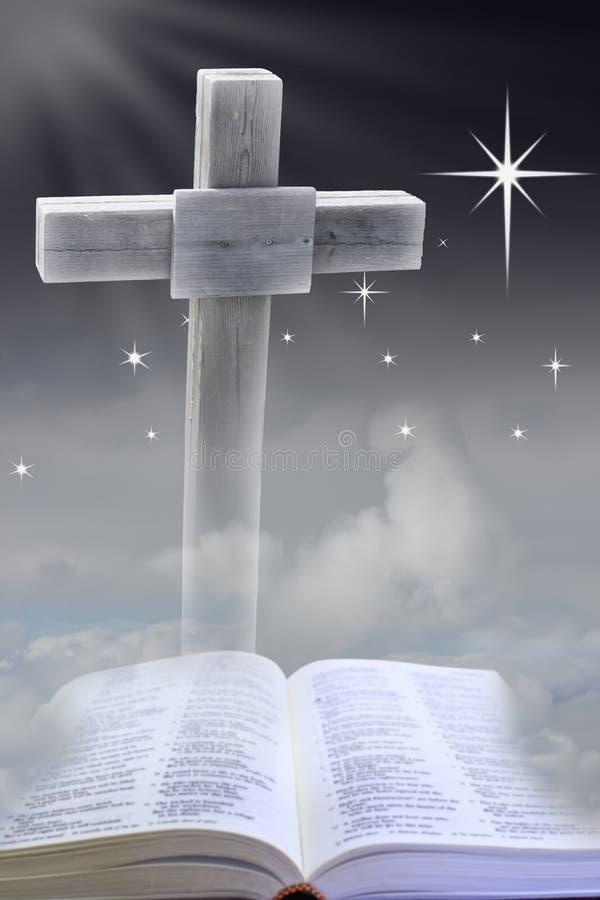 Cruz no céu noturno ilustração stock