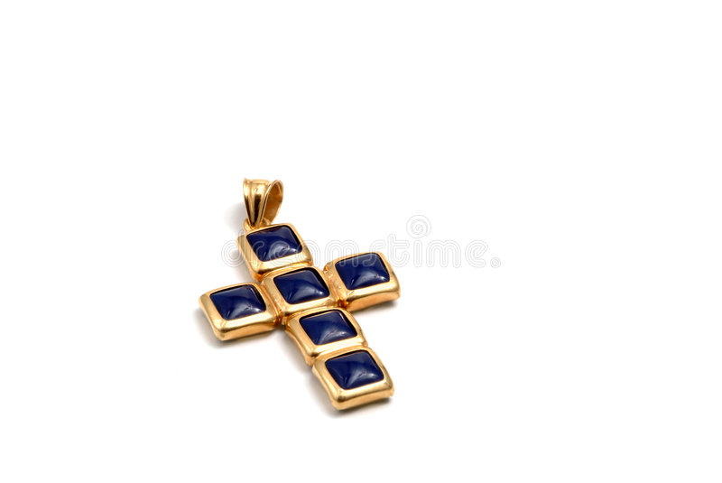 Download Cruz no ouro foto de stock. Imagem de ouro, nomes, ornamental - 526146