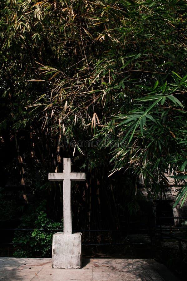 Cruz no Santiago velho do forte, Manila, Filipinas foto de stock royalty free