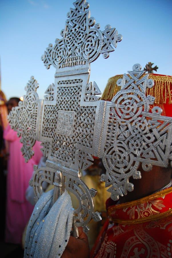 Cruz ortodoxa etíope imagenes de archivo