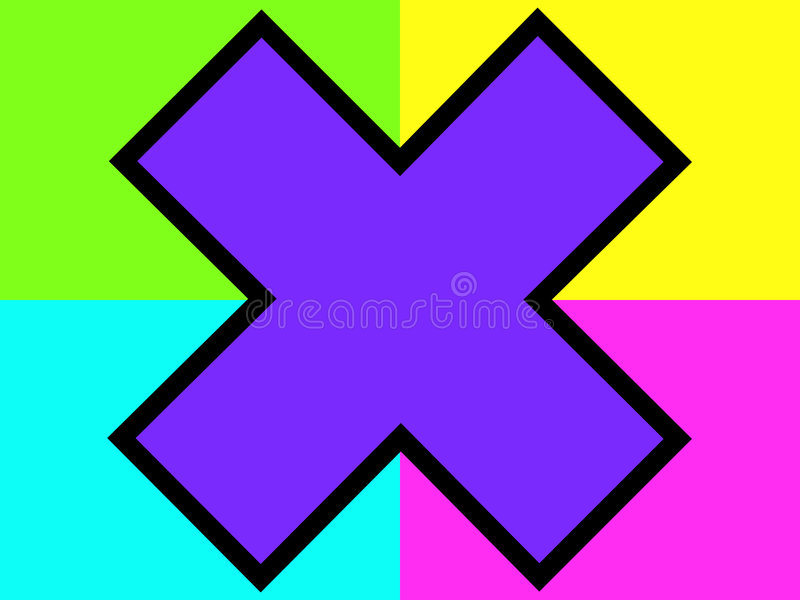 Cruz púrpura en fondo ilustración del vector