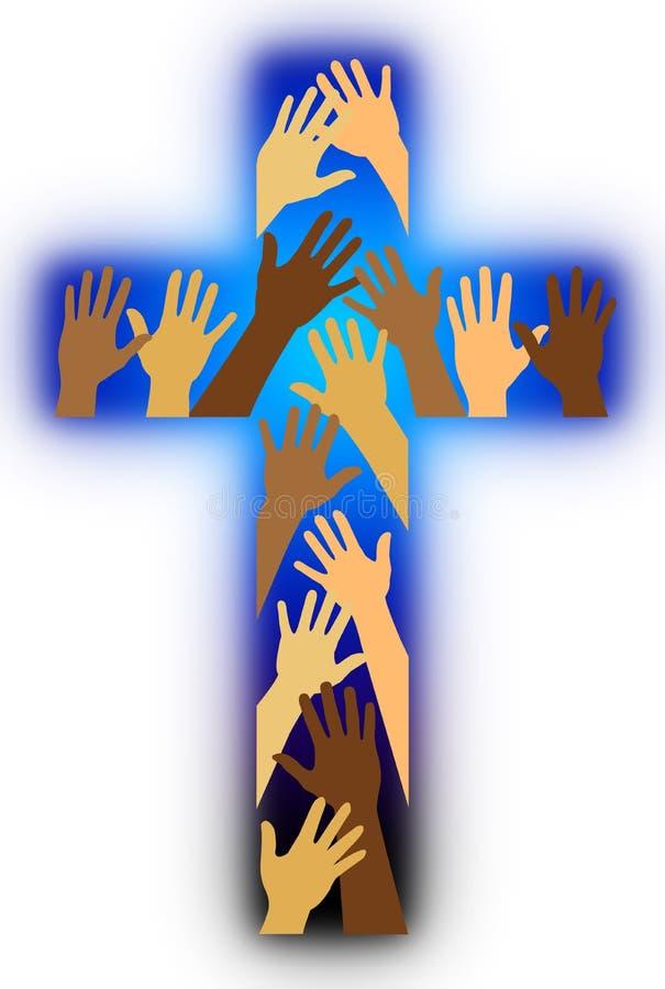 Cruz racial da diversidade ilustração stock