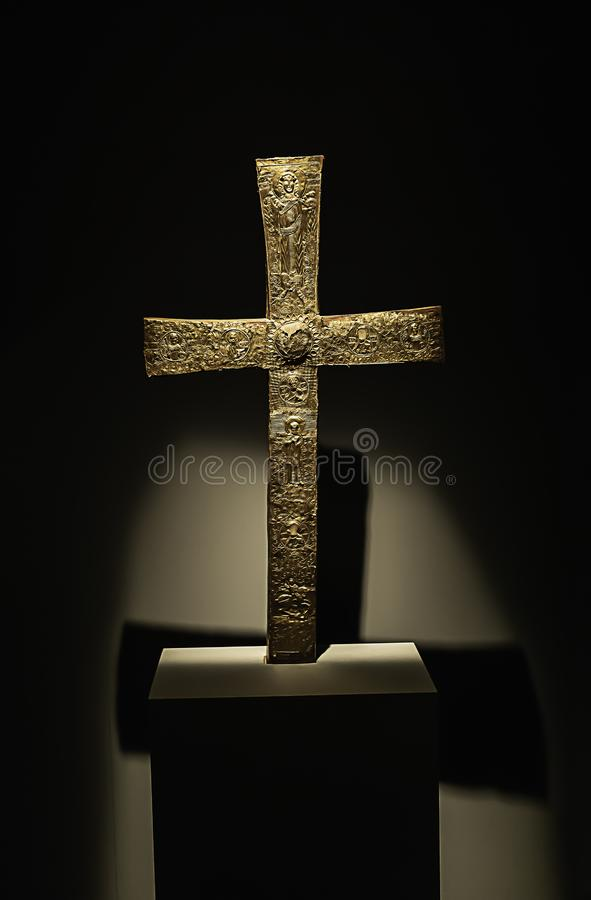 Cruz religiosa da cristandade foto de stock royalty free