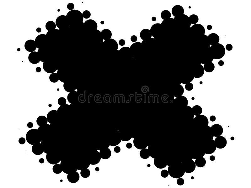Cruz retro preto e branco ilustração do vetor