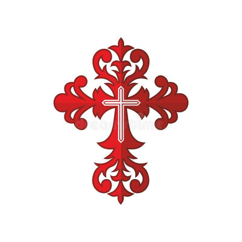 Cruz Roja con el ornamento libre illustration