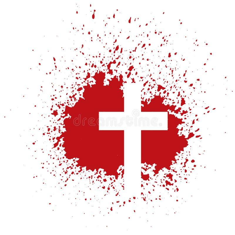 Cruz sangrienta stock de ilustración