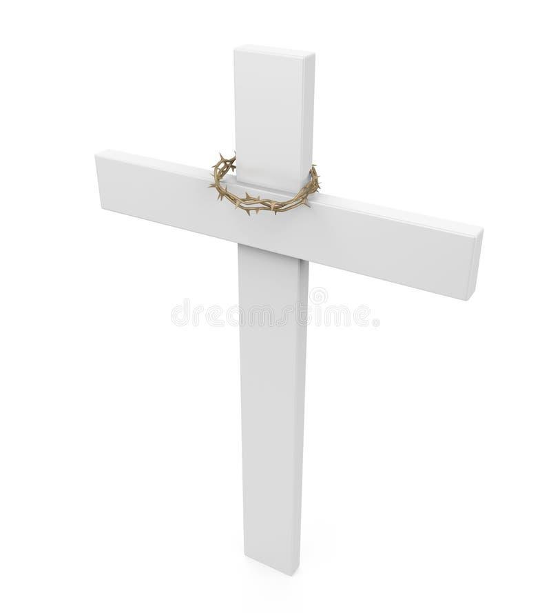 Cruz santa aislada ilustración del vector