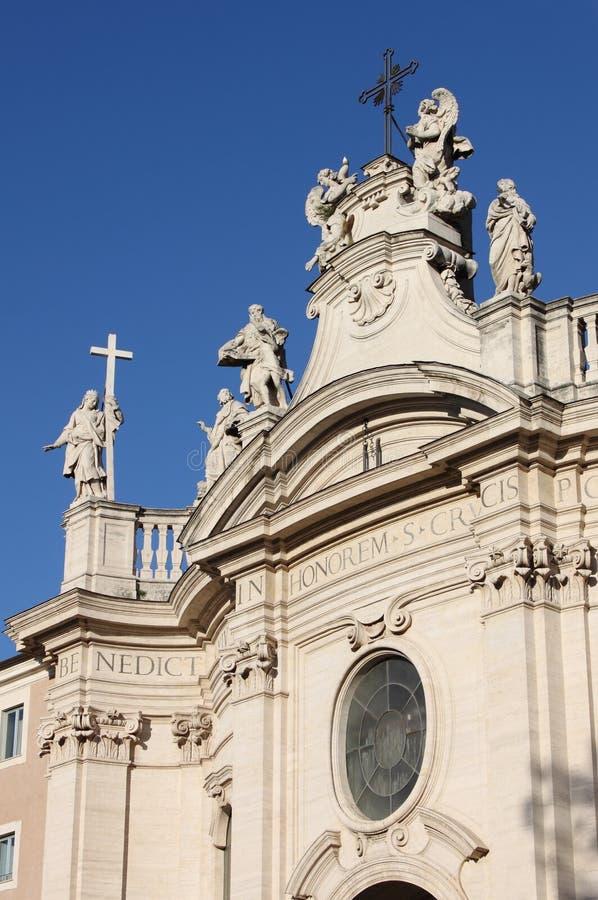 Cruz santa en la basílica de Jerusalén en Roma fotografía de archivo