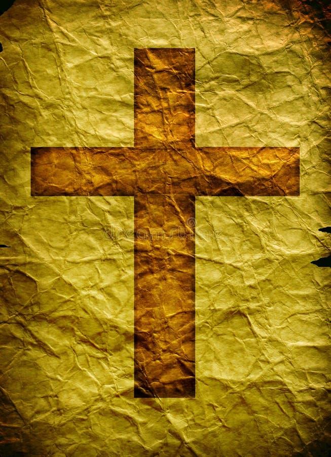 Cruz santamente ilustração royalty free