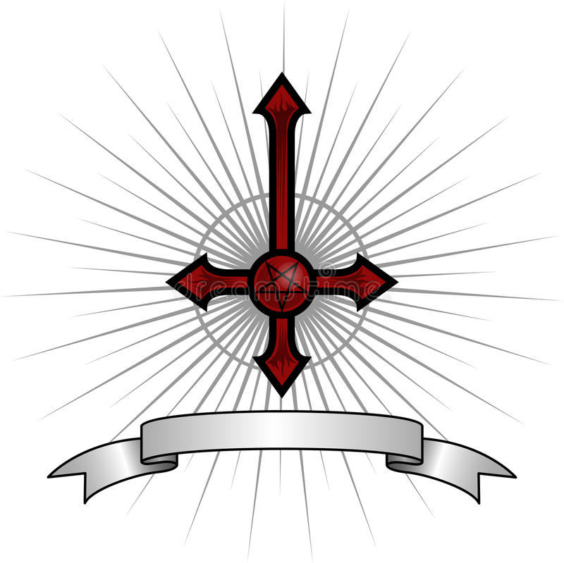 Cruz satânica foto de stock royalty free