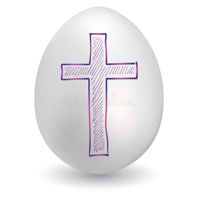 Cruz simple en el huevo de Pascua libre illustration