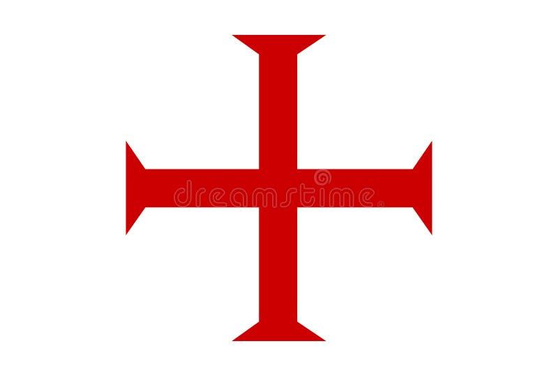 cruz templar dos cavaleiros ilustração do vetor