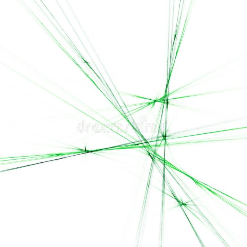 Cruz verde ilustración del vector
