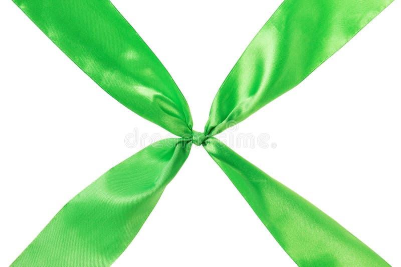 Cruz verde de la cinta foto de archivo