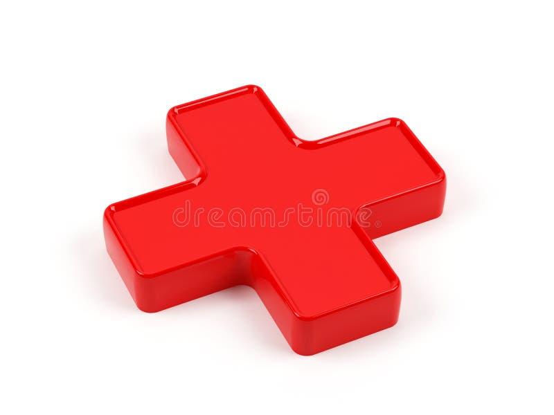 Cruz vermelha ilustração do vetor