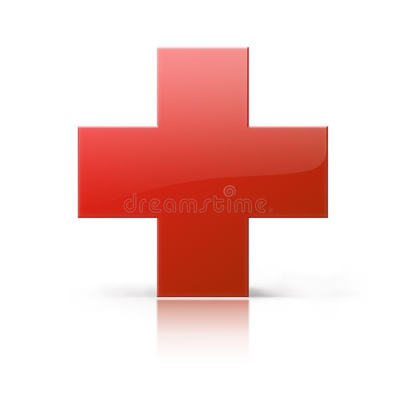 Cruz vermelha ilustração stock