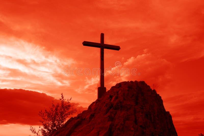 Cruz vermelha foto de stock