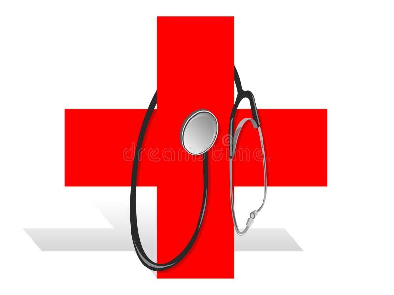 Cruz vermelha ilustração royalty free