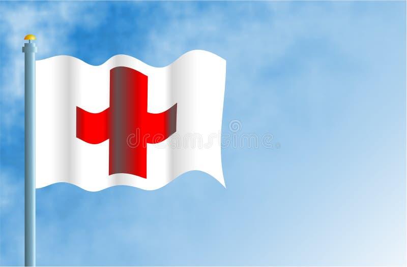 Download Cruz vermelha foto editorial. Ilustração de flagpole, internacional - 62576