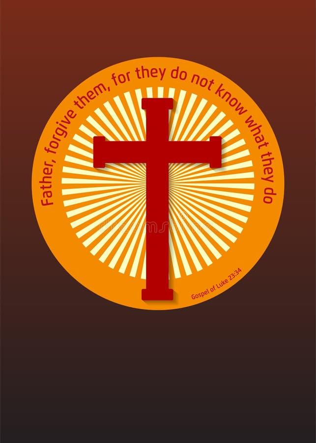 Cruz y evangelio libre illustration