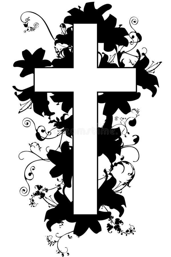 Cruz y planta cristianas 21 ilustración del vector