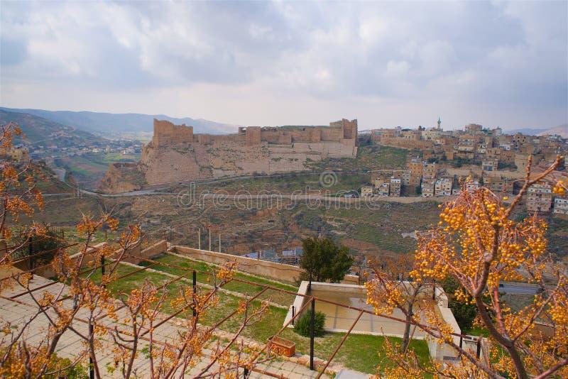 Cruzado del castillo de Kerak en Jordan Asia imagenes de archivo