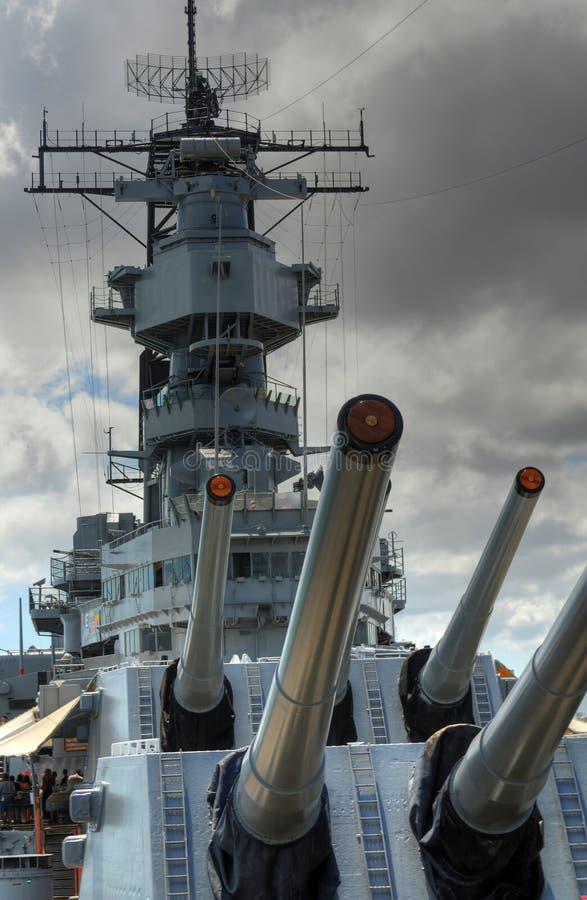 Cruzador de batalha Missouri imagem de stock
