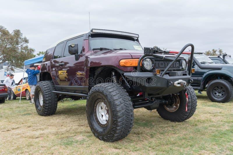 Cruzador 2007 de Toyota FJ na exposição imagem de stock royalty free