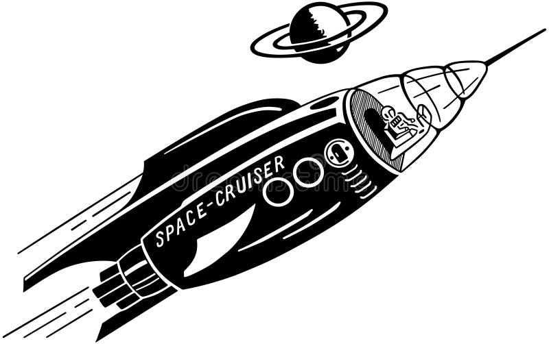 Cruzador do espaço ilustração royalty free