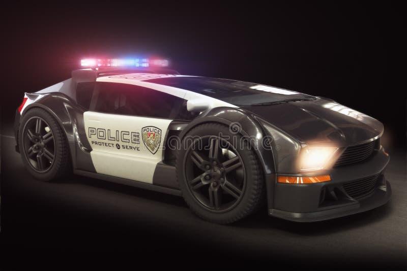 Cruzador moderno futurista do carro de polícia imagem de stock royalty free