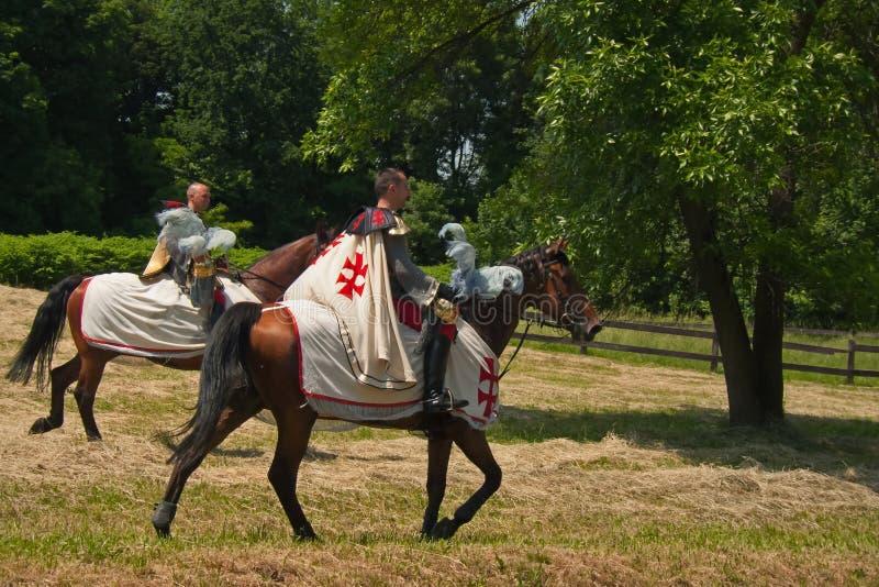 Cruzados equestres foto de stock