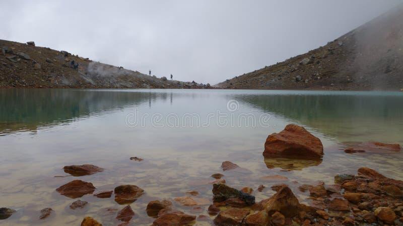Cruzamento alpino de Tongariro fotos de stock